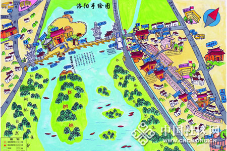 泉州志愿者手绘千年古镇地图
