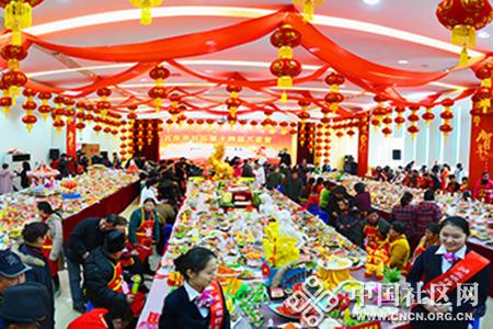 百步亭万家宴11000道菜肴吃出邻里情