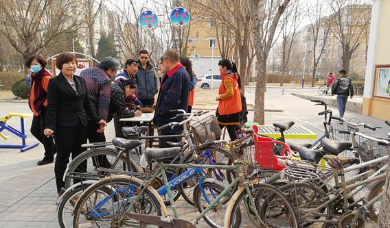 北京:社区组织废旧自行车换购活动
